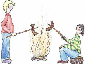 Die 1. Wurst vom Feuer im 2021! @ Abenteuerland Teuflibach Cham