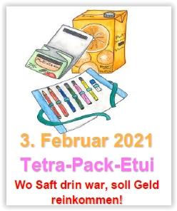 Themenwerken: Tetra-Pack-Etui @ Abenteuerland ZuKi-am-Teuflibach | Cham | Zug | Schweiz
